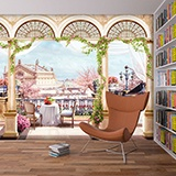 Wall Murals: Large terrace in the attic 2