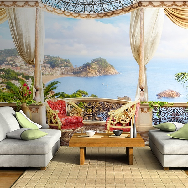 Wall Murals: Luxury Seaview terrace