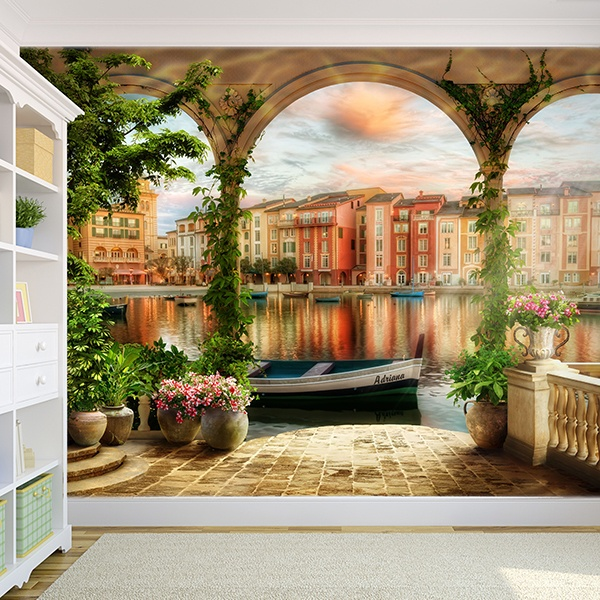 Wall Murals: Porch in the canals of Venice
