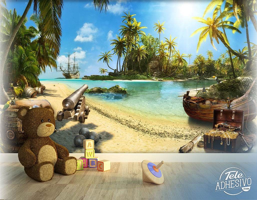 Wall Murals: The Pirate Island
