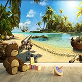 Wall Murals: The Pirate Island 2