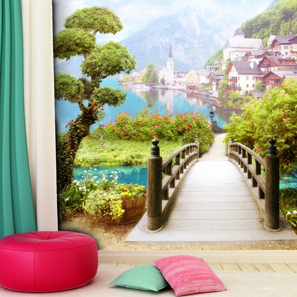 Wall Murals: Walk by the Lake