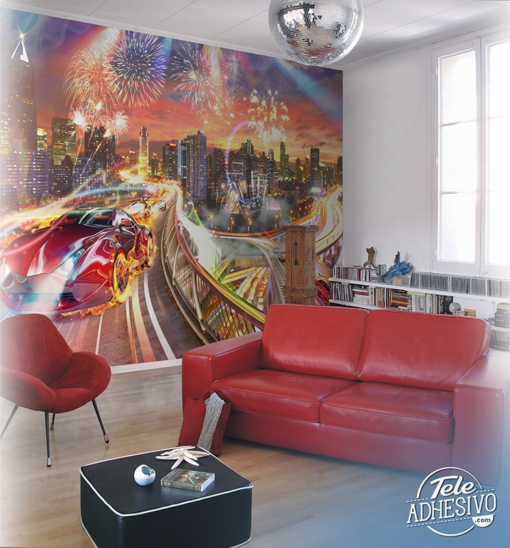 Wall Murals: Custom Car City