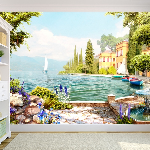 Wall Murals: Garden on the shores of the Lake