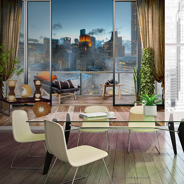 Wall Murals: Terrace in the big city