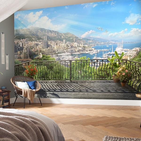 Wall Murals: Terrace in the harbor 0