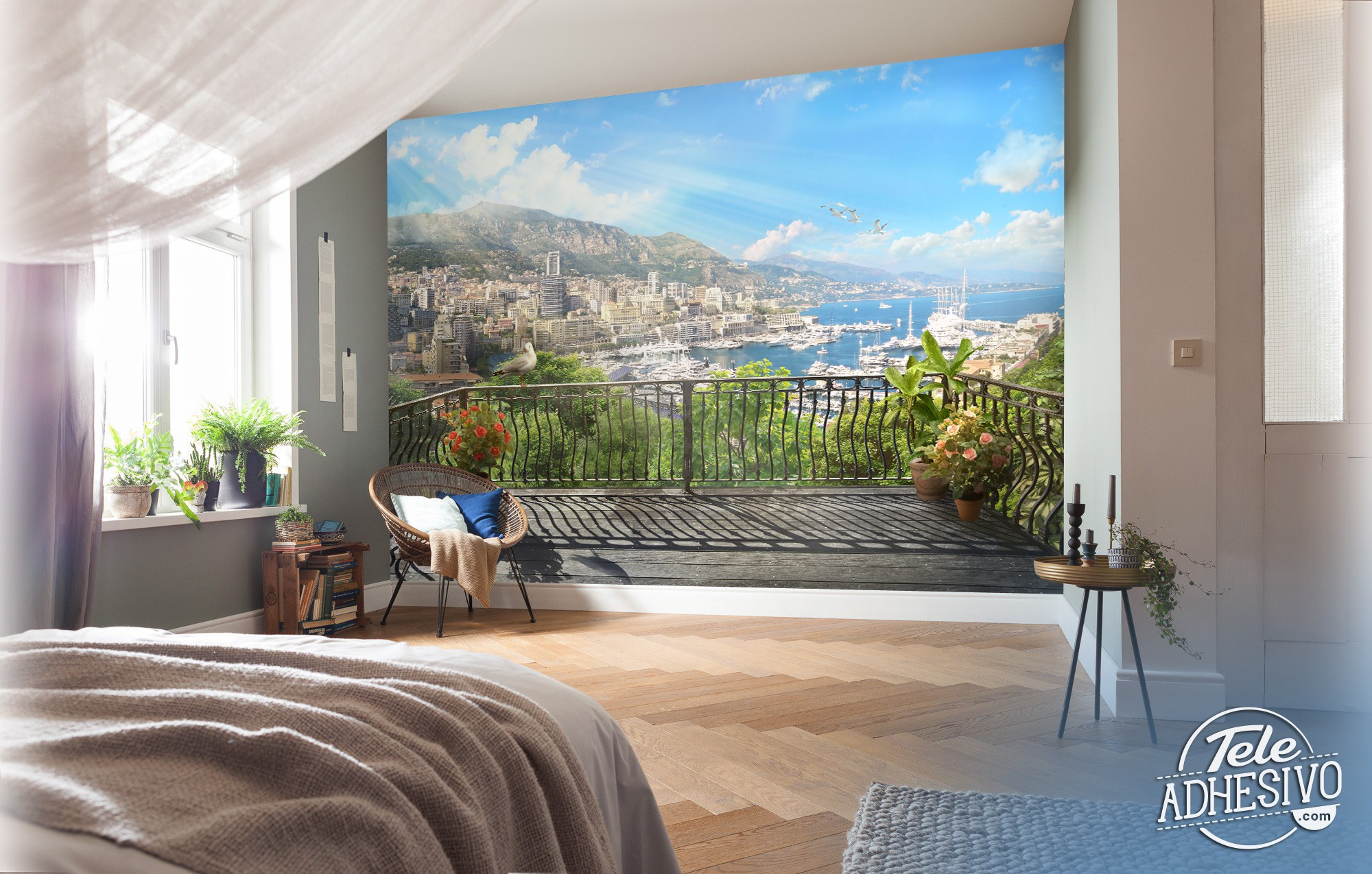 Wall Murals: Terrace in the harbor