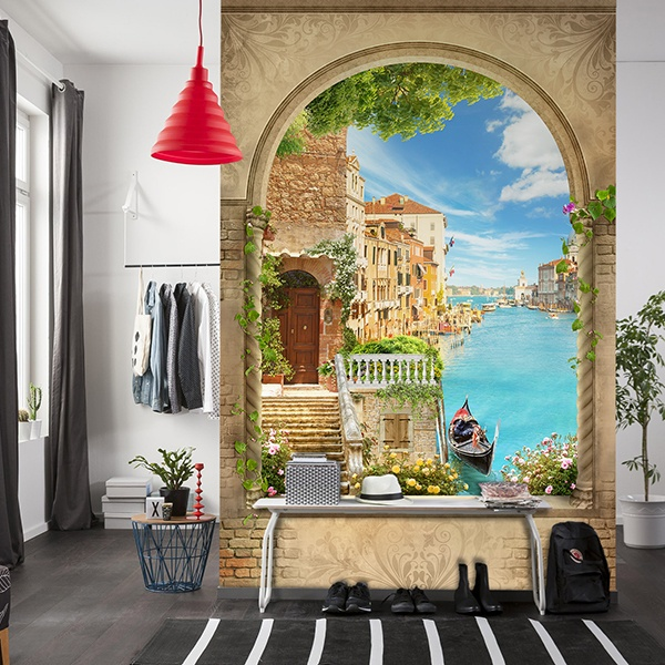 Wall Murals: Window in the Venice canal