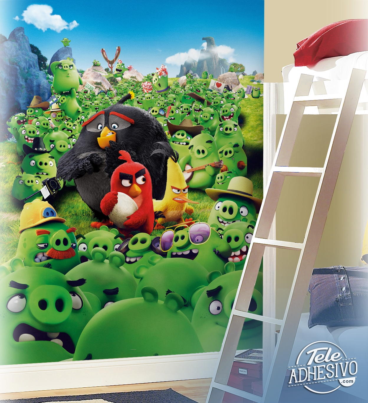 Wall Murals: Angry Birds Montain