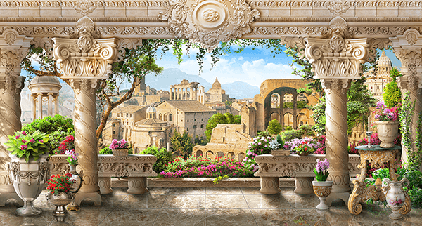 Wall Murals: The viewpoint of the columns