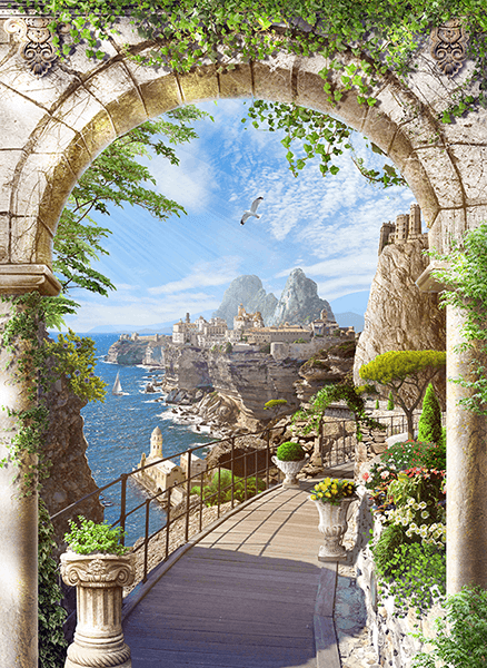 Wall Murals: The arch of the cliffs