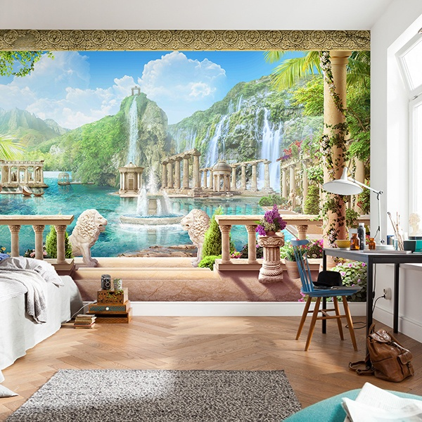 Wall Murals: Courtyard of the lions 0