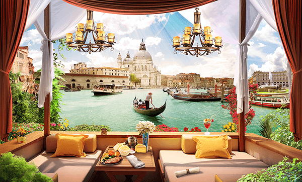 Wall Murals: The terrace of Venice