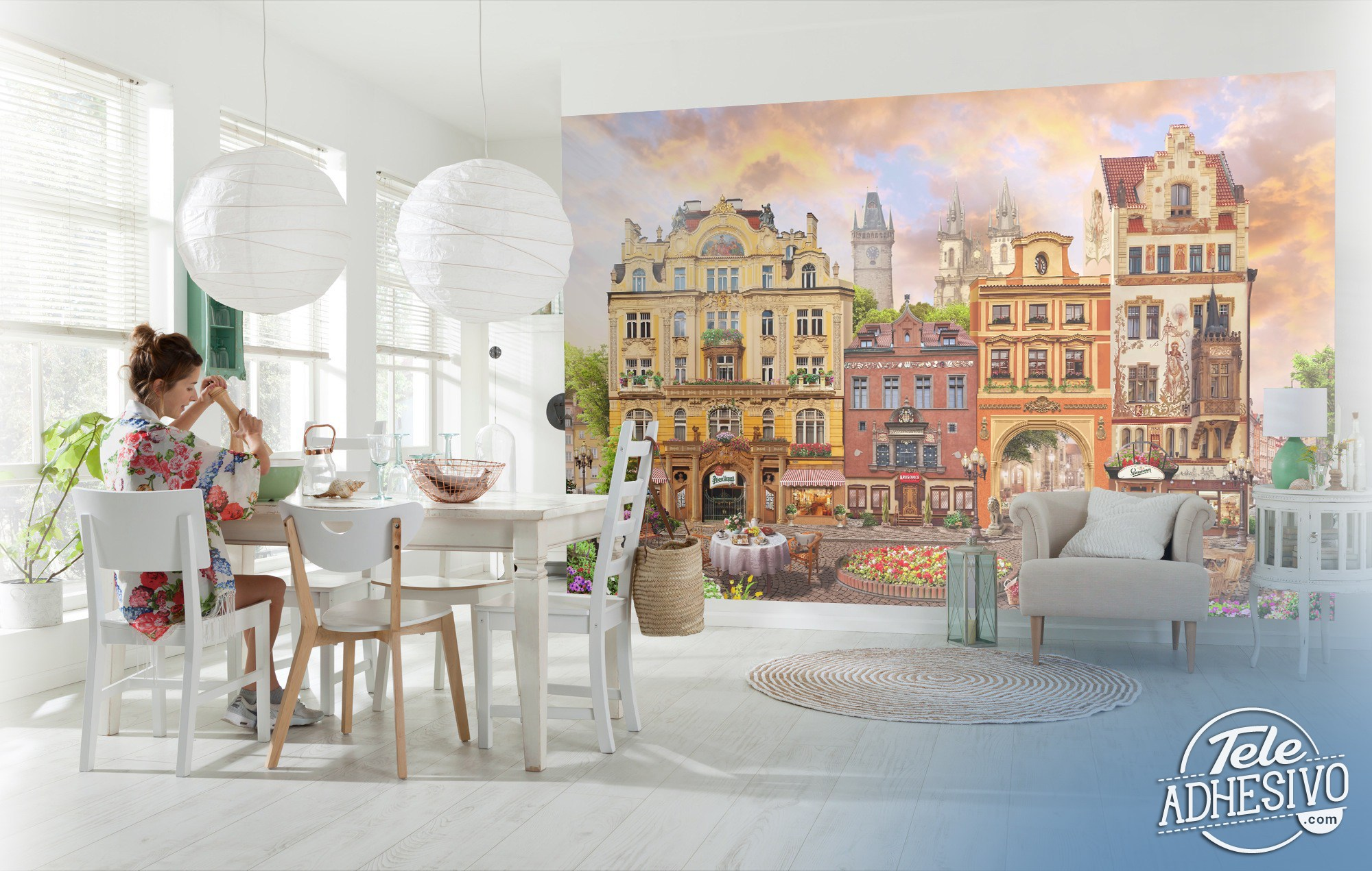 Wall Murals: Prague square