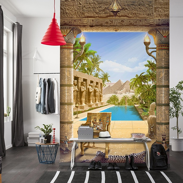 Wall Murals: Egyptian temple 0