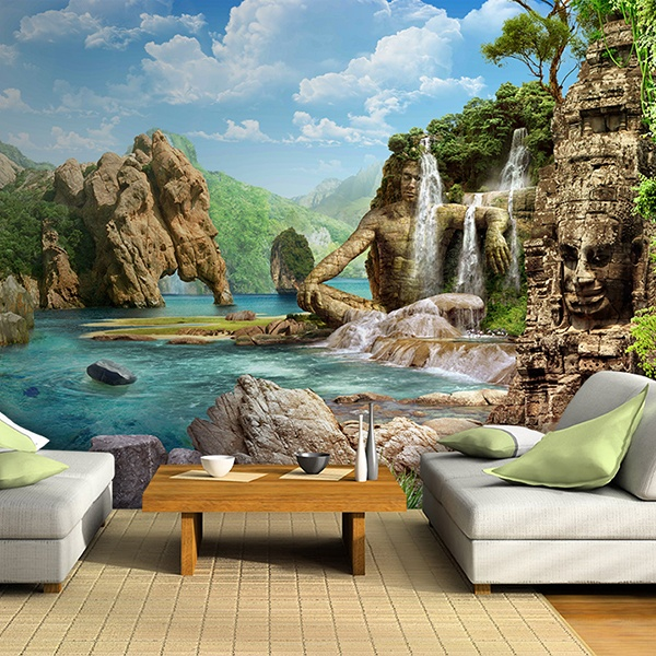 Wall Murals: Fantasy lake