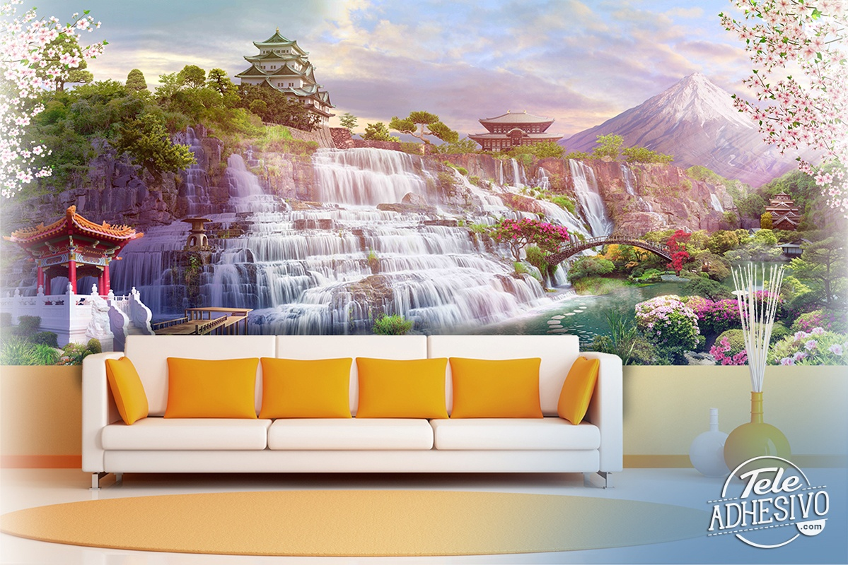 Wall Murals: Waterfall Japan