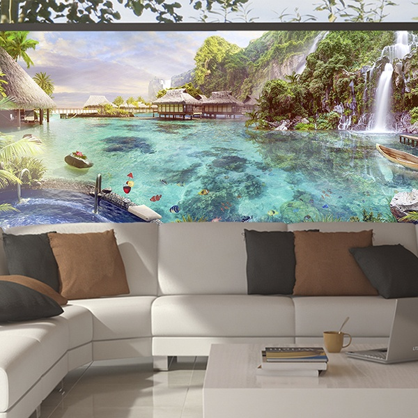 Wall Murals: Lake Polynesia