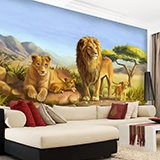 Wall Murals: Family lions 2