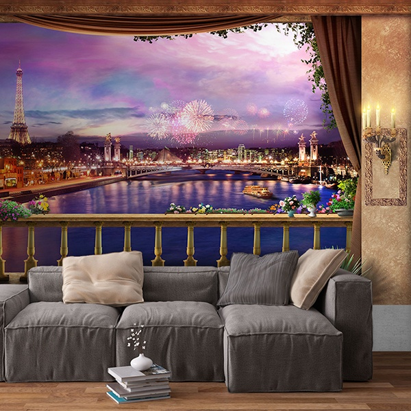 Wall Murals: Night in Paris