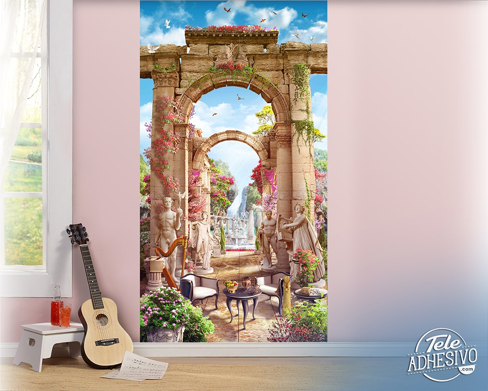 Wall Murals: Greek patio