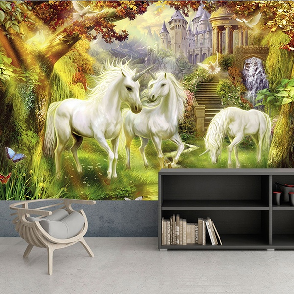 Wall Murals: Castle of the unicorns