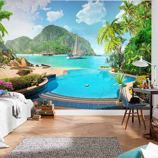 Wall Murals: Polynesia resort