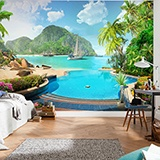 Wall Murals: Polynesia resort 2
