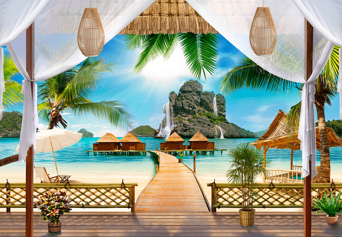 Wall Murals: Porch polynesia