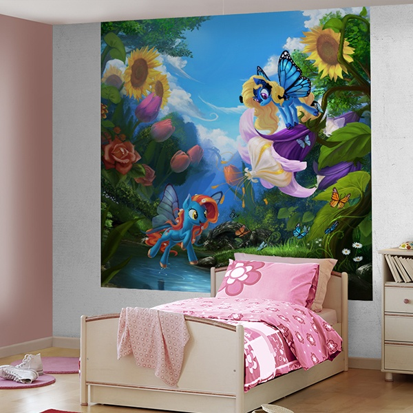 Wall Murals: My little pony Flowers 0