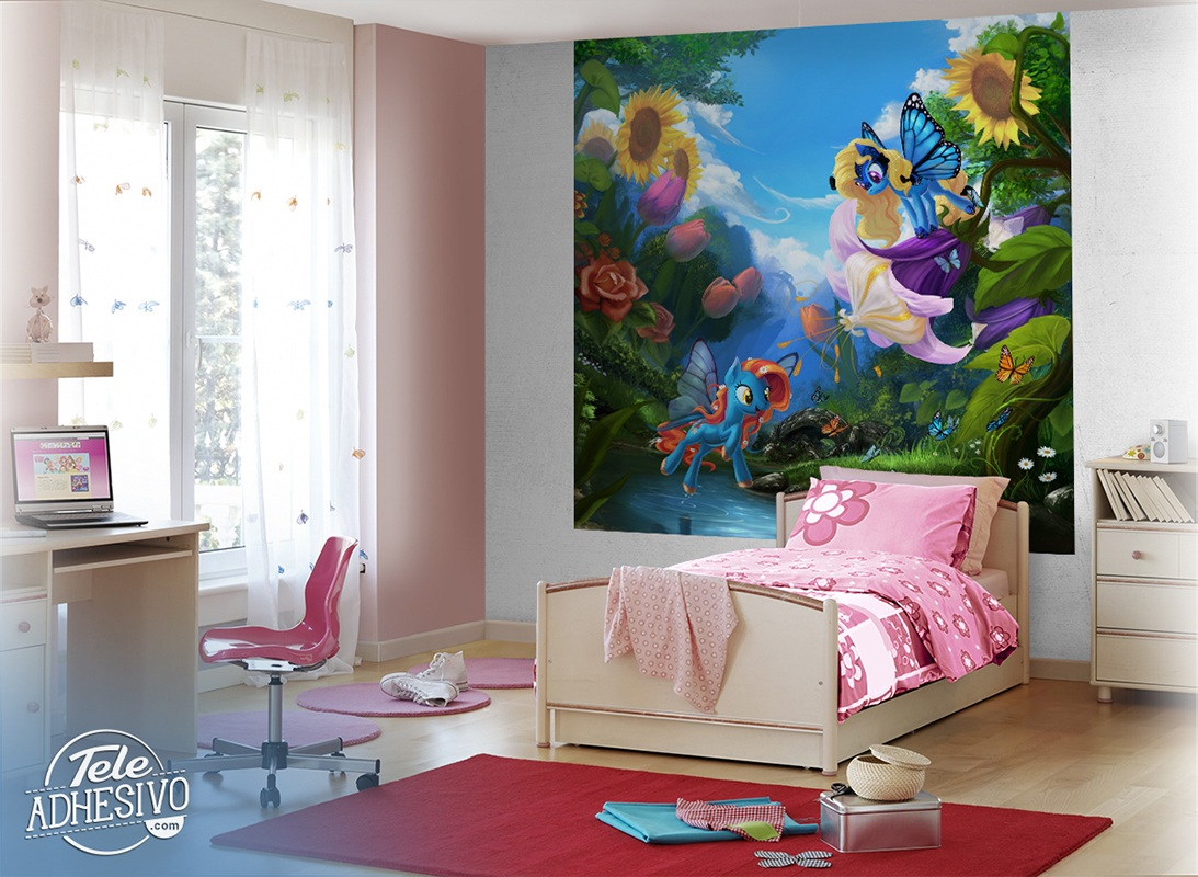 Wall Murals: My little pony Flowers