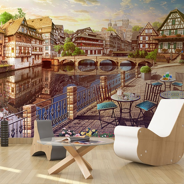 Wall Murals: Night stand Strasbourg