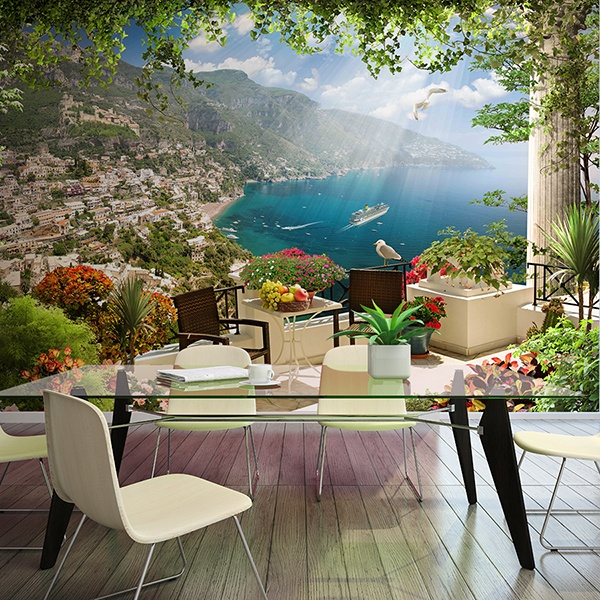 Wall Murals: Terrace coastal village
