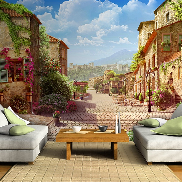 Wall Murals: Village street
