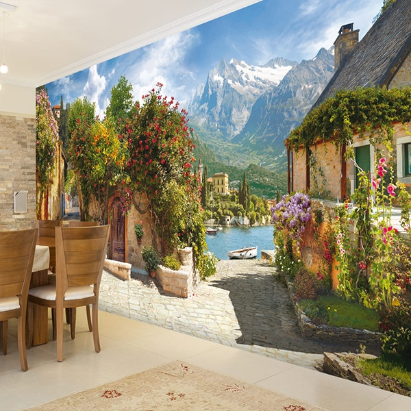 Wall Murals: The house of flowers