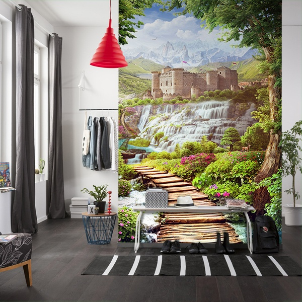 Wall Murals: Bridge to the Castle 0