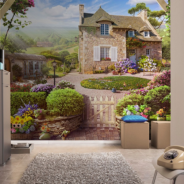 Wall Murals: Country house