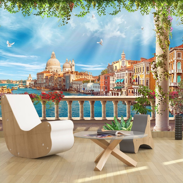 Wall Murals: Terrace in Venice 0