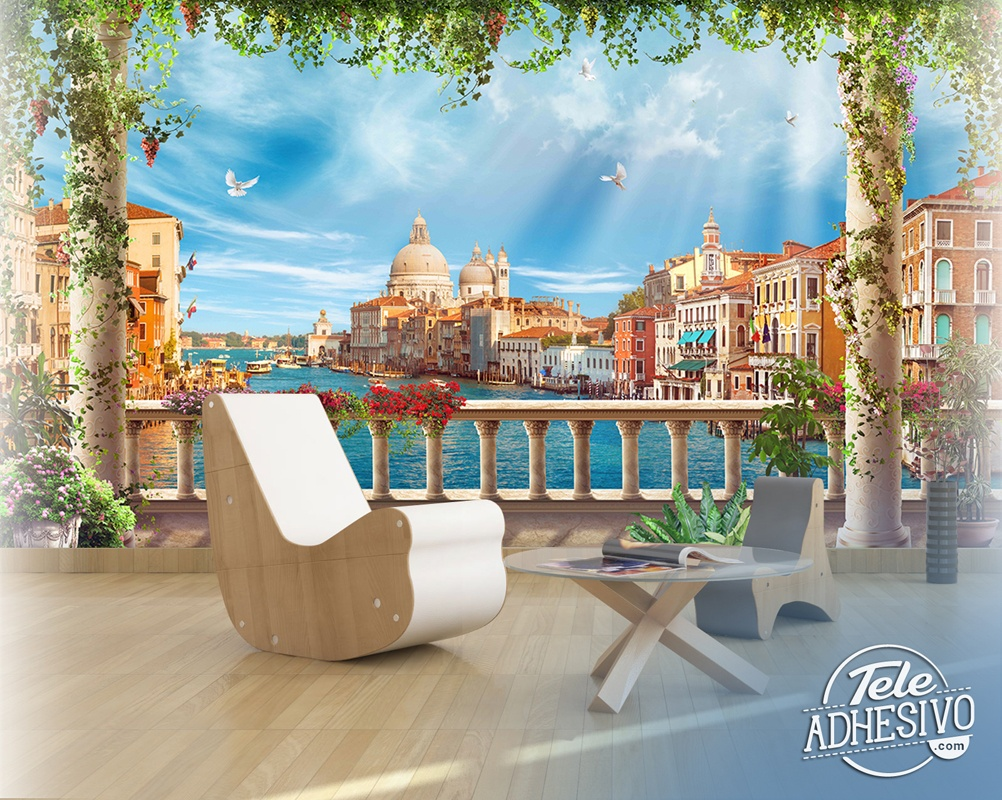 Wall Murals: Terrace in Venice