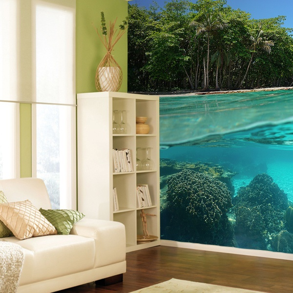 Wall Murals: Crystal clear waters of the sea 0