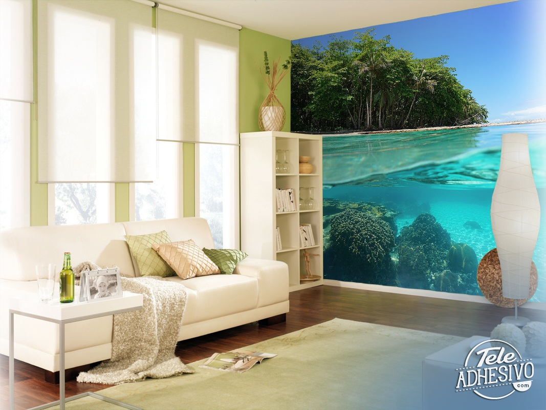 Wall Murals: Crystal clear waters of the sea