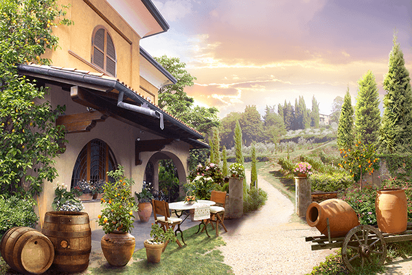 Wall Murals: Winery in Tuscany