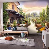 Wall Murals: Winery in Tuscany 2