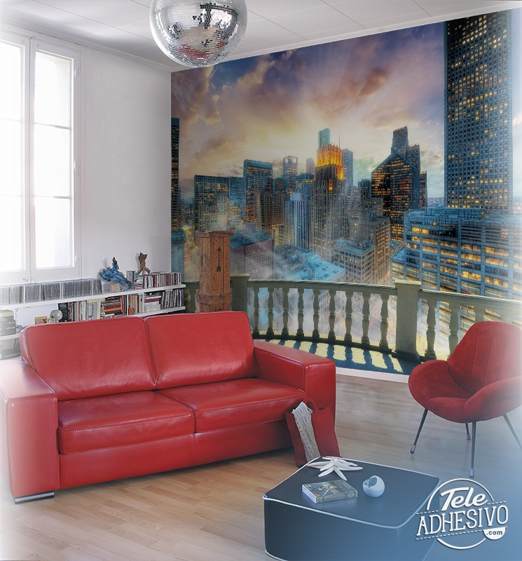 Wall Murals: Balcony in Manhattan