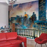 Wall Murals: Balcony in Manhattan 2