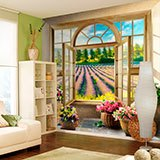 Wall Murals: Window to the Lavender field 2