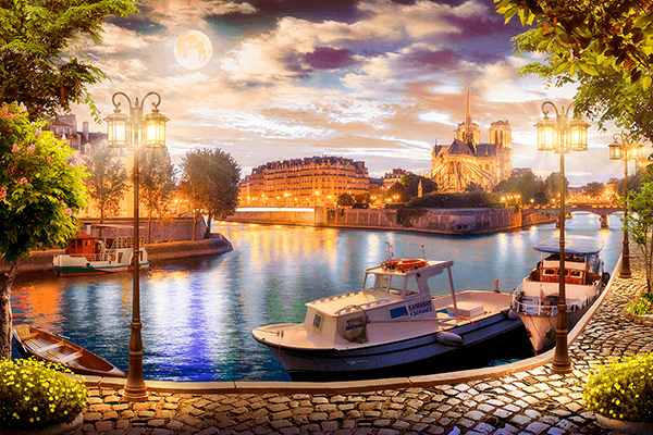 Wall Murals: Island of the Cathedral of Notre Dame