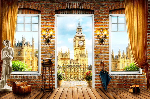 Wall Murals: Big Ben Balcony
