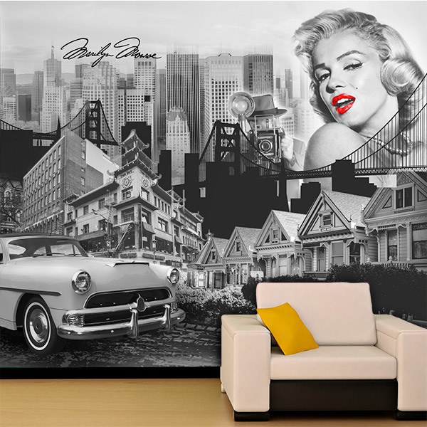Wall Murals: Collage Musa Marilyn Monroe