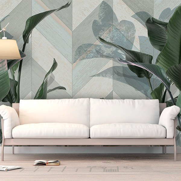 Wall Murals: Collage of Leaves